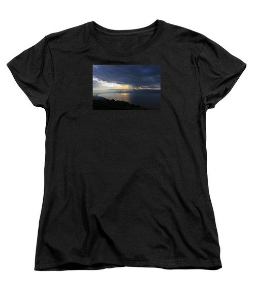 Sunset Over The Sea Of Galilee Women's T-Shirt (Standard Cut) by Dubi Roman