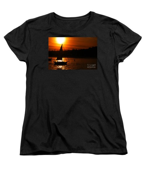 Sunset Sailing Women's T-Shirt (Standard Cut) by Clayton Bruster
