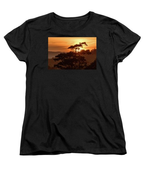 Sunset Silhouette Women's T-Shirt (Standard Cut) by Keith Boone