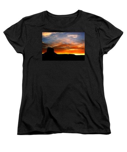 Women's T-Shirt (Standard Cut) featuring the photograph Sunset Sky by Harry Spitz
