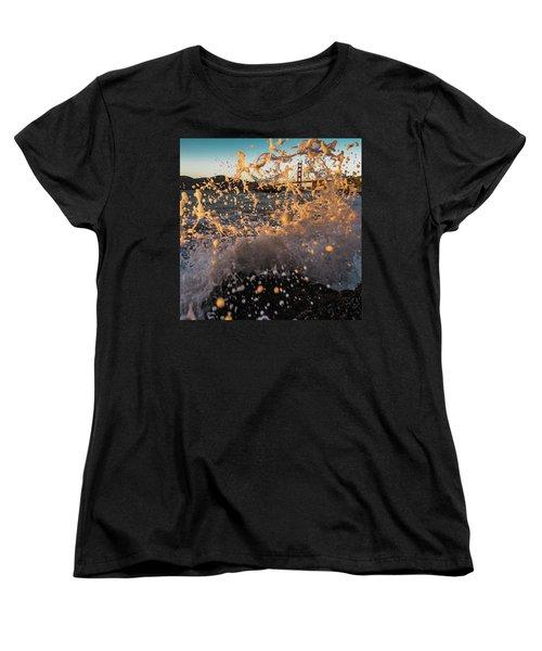 Sunset Splash Women's T-Shirt (Standard Cut) by Alpha Wanderlust