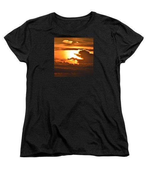 Women's T-Shirt (Standard Cut) featuring the photograph Sunset Storm Clouds 2  by Lyle Crump