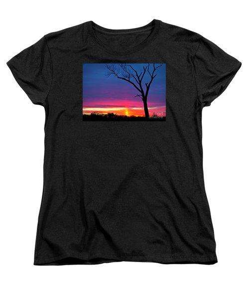 Sunset Sundog  Women's T-Shirt (Standard Cut) by Ricky L Jones