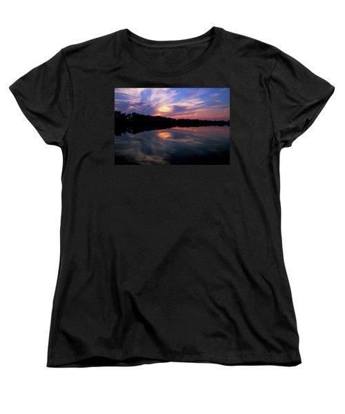 Women's T-Shirt (Standard Cut) featuring the photograph Sunset Swirl by Steve Stuller