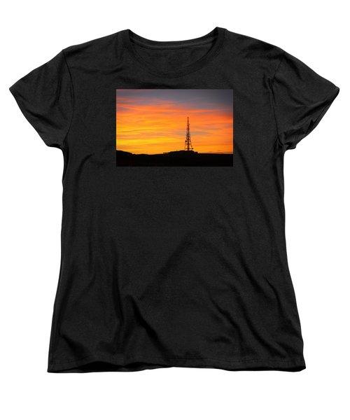 Sunset Tower Women's T-Shirt (Standard Cut) by RKAB Works