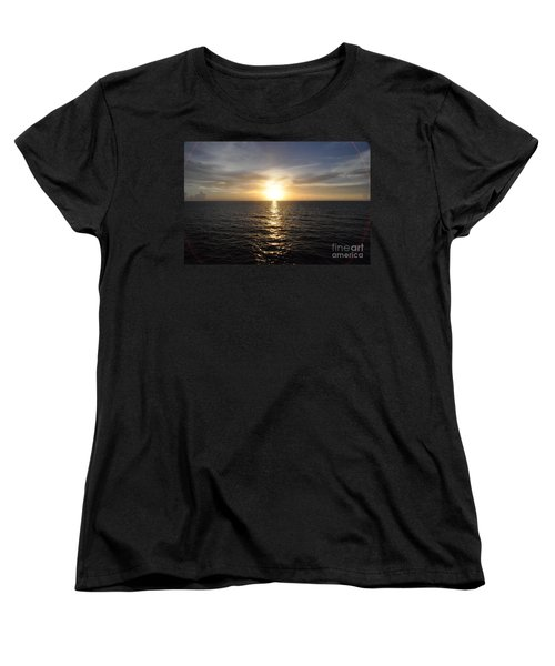 Women's T-Shirt (Standard Cut) featuring the photograph Sunset With Halo by John Black