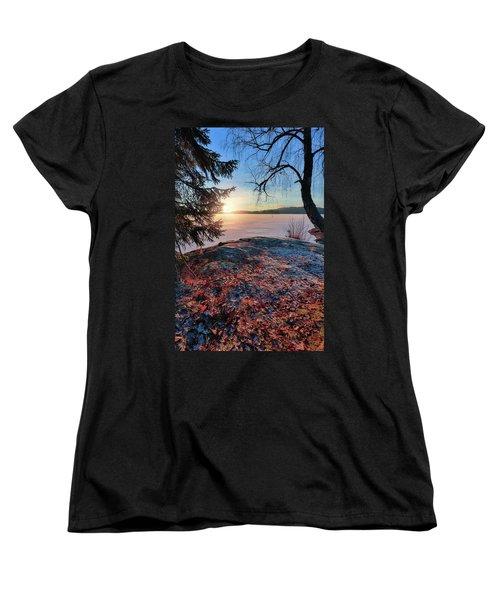 Sunsets Creates Magic Women's T-Shirt (Standard Cut) by Rose-Marie Karlsen