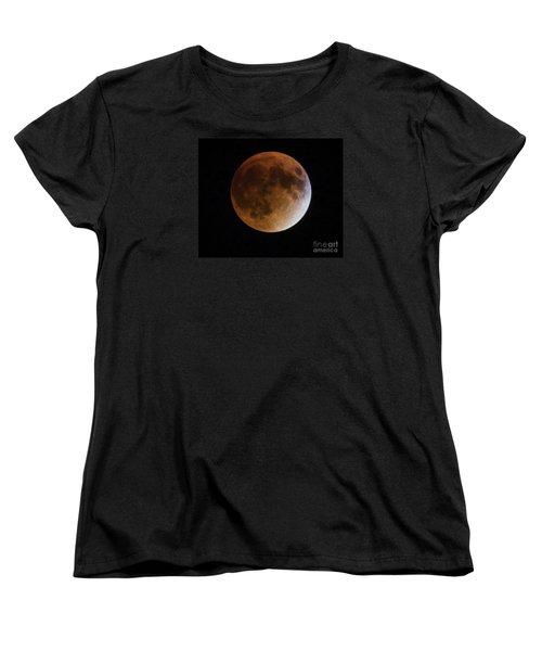 Women's T-Shirt (Standard Cut) featuring the photograph Super Blood Moon Lunar Eclipses by Ricky L Jones