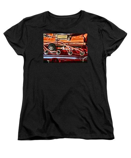 Super Stock Ss 426 IIi Hemi Motor Women's T-Shirt (Standard Cut) by Gordon Dean II