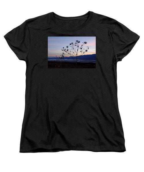 Superbloom Sunset In Death Valley 102 Women's T-Shirt (Standard Cut) by Daniel Woodrum