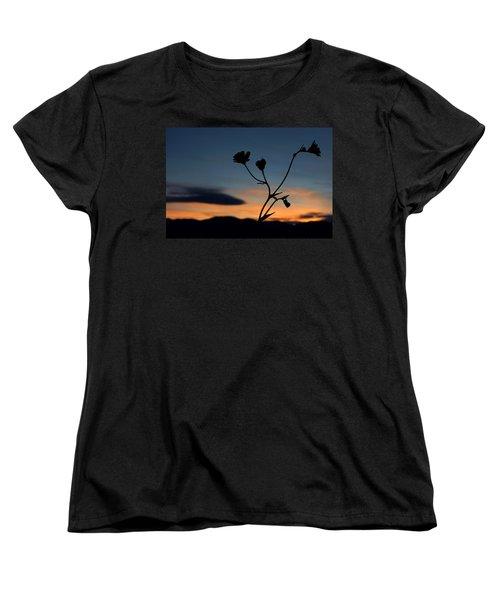 Superbloom Sunset In Death Valley 105 Women's T-Shirt (Standard Cut) by Daniel Woodrum
