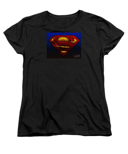Superman Doomsday Shield  Women's T-Shirt (Standard Cut) by Justin Moore