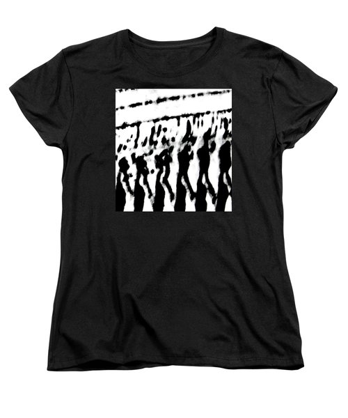 Surreal From Tire Tracks In Sand Women's T-Shirt (Standard Cut)