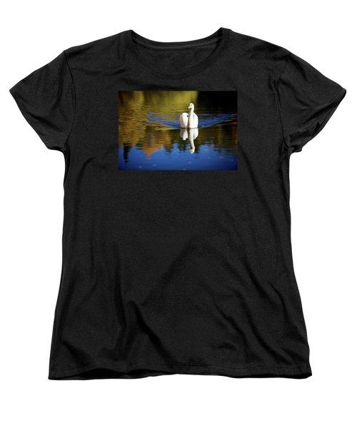 Swan In Color Women's T-Shirt (Standard Cut) by Teemu Tretjakov