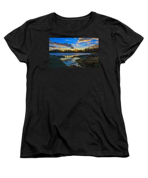Swan Lake Sunset Women's T-Shirt (Standard Cut) by Jeffrey Friedkin