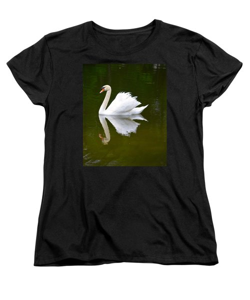 Swan Reflecting Women's T-Shirt (Standard Cut) by Richard Bryce and Family