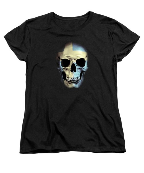 Women's T-Shirt (Standard Cut) featuring the digital art Swedish Skull by Nicklas Gustafsson