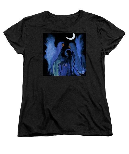 Sweet Angelfamily Women's T-Shirt (Standard Cut) by Sherri's Of Palm Springs