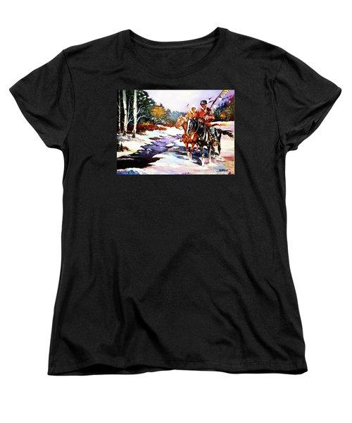 Snowbound Hunters Women's T-Shirt (Standard Cut) by Al Brown