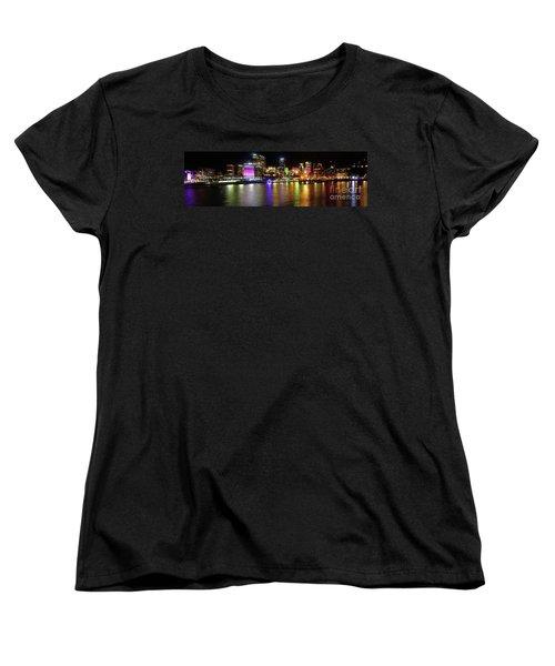 Sydney Skyline By Kaye Menner Women's T-Shirt (Standard Cut) by Kaye Menner