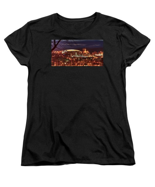 Syracuse Dome At Night Women's T-Shirt (Standard Cut) by Everet Regal