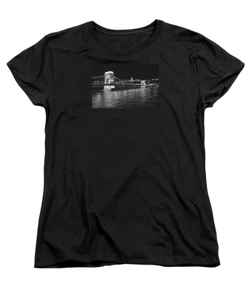 Szechenyi Chain Bridge Budapest Women's T-Shirt (Standard Cut) by Alan Toepfer