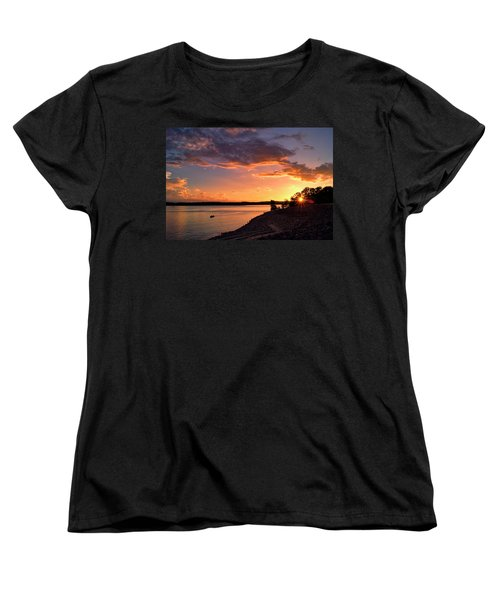 Women's T-Shirt (Standard Cut) featuring the photograph Table Rock Sunset by Cricket Hackmann