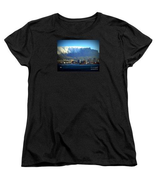 Table Rock With Cloud Women's T-Shirt (Standard Cut) by John Potts