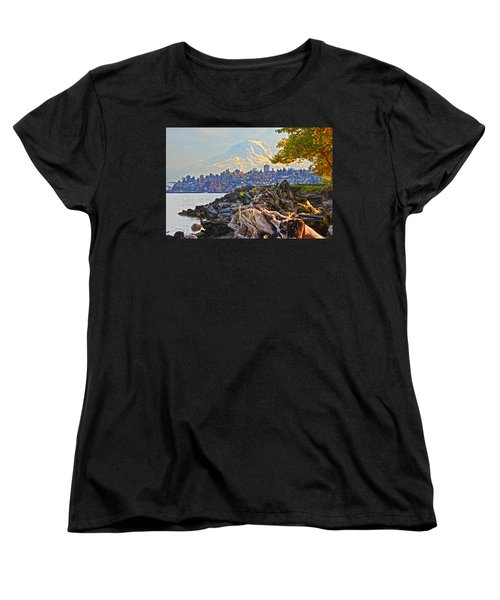 Women's T-Shirt (Standard Cut) featuring the photograph Tacoma In The Fall by Jack Moskovita