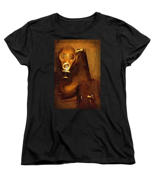 Women's T-Shirt (Standard Cut) featuring the painting Tainted by Holly Ethan