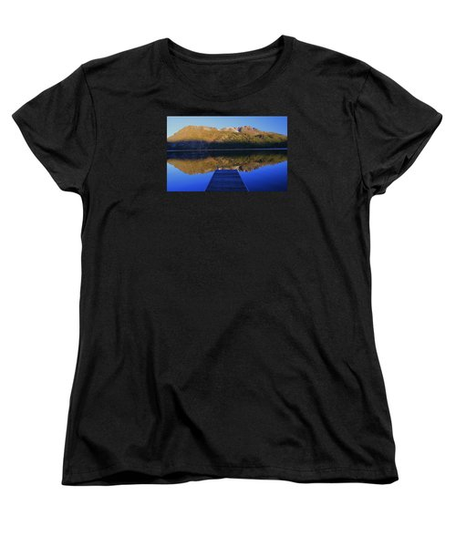 Women's T-Shirt (Standard Cut) featuring the photograph Take A Long Walk Off A Short Pier  by Sean Sarsfield