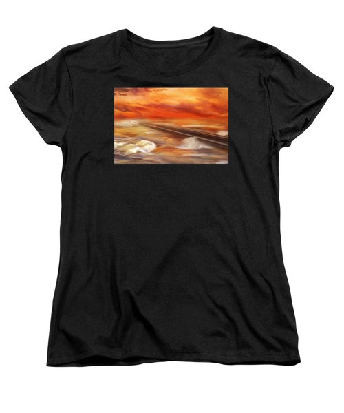 Take The Weather With You Women's T-Shirt (Standard Cut) by Iryna Goodall