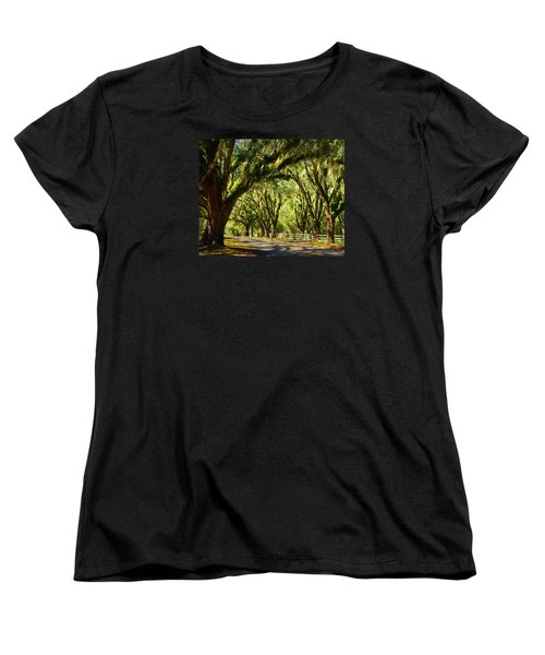 Tallahassee Canopy Road Women's T-Shirt (Standard Cut) by Carla Parris