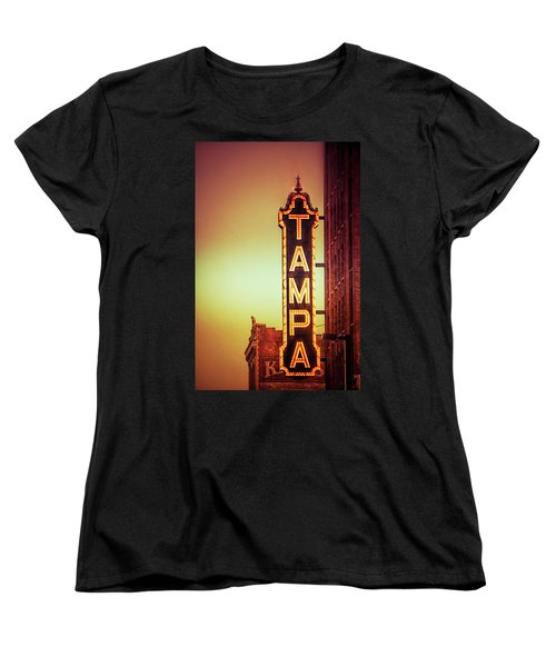 Women's T-Shirt (Standard Cut) featuring the photograph Tampa Theatre by Carolyn Marshall