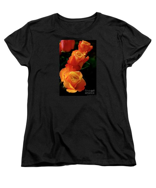 Women's T-Shirt (Standard Cut) featuring the photograph Tango In Three by Cathy Dee Janes