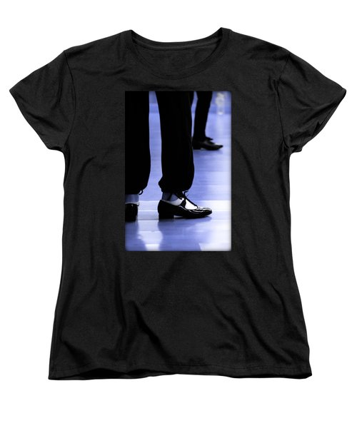 Tap Dance In Blue Are Shoes Tapping In A Dance Academy Women's T-Shirt (Standard Cut)