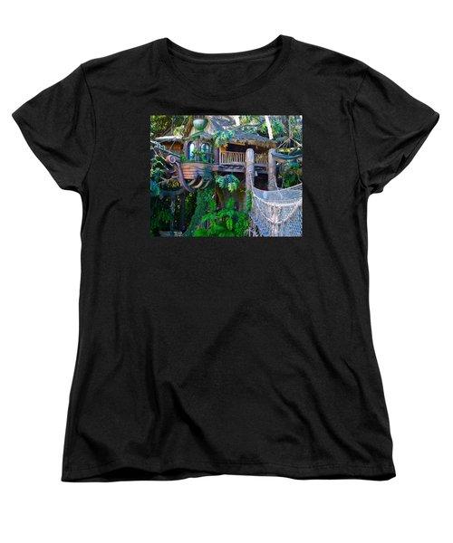 Tarzan Treehouse Women's T-Shirt (Standard Cut) by Karon Melillo DeVega