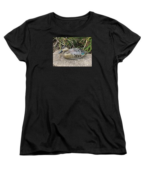 Teal Winged Female Women's T-Shirt (Standard Cut) by Kevin F Heuman