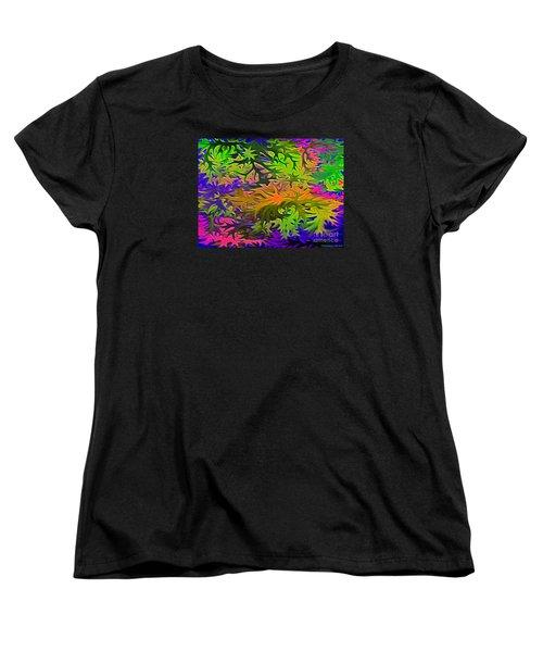 Technicolor Leaves Women's T-Shirt (Standard Cut) by Patricia Griffin Brett