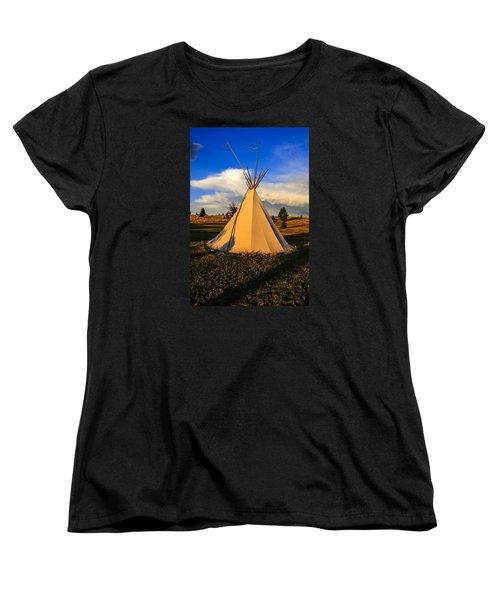 Teepee In Montana Women's T-Shirt (Standard Cut) by Chris Smith