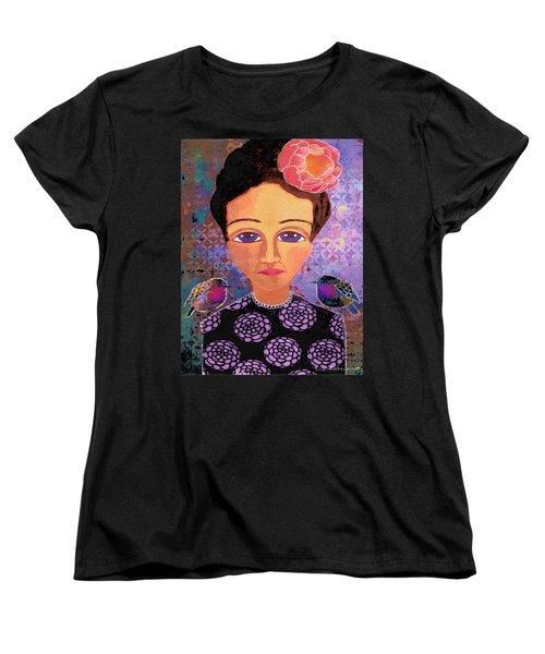 Women's T-Shirt (Standard Cut) featuring the digital art Telling Secrets by Lisa Noneman