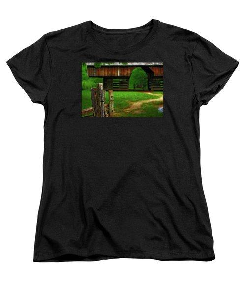 Women's T-Shirt (Standard Cut) featuring the photograph Tennesse Barn by Rowana Ray