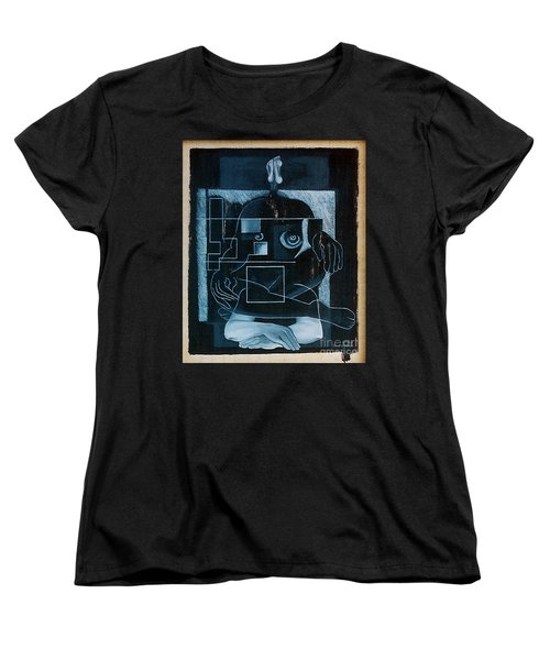 Women's T-Shirt (Standard Cut) featuring the painting Tense Leisure by Fei A