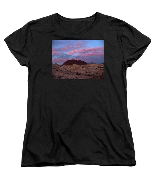 Women's T-Shirt (Standard Cut) featuring the painting Terlingua Sunset by Dennis Ciscel