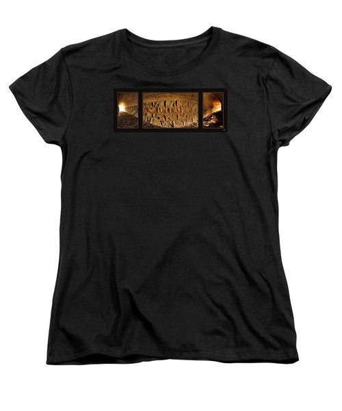 Women's T-Shirt (Standard Cut) featuring the photograph Terry Tunnel Triptych by Leland D Howard