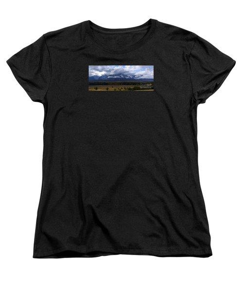 Women's T-Shirt (Standard Cut) featuring the photograph Teton Range # 1 by Sandy Molinaro