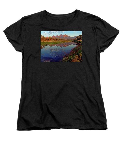 Teton Wildflowers Women's T-Shirt (Standard Cut) by Scott Mahon