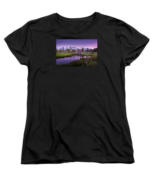 Tetons In Pink Women's T-Shirt (Standard Cut) by Mary Angelini