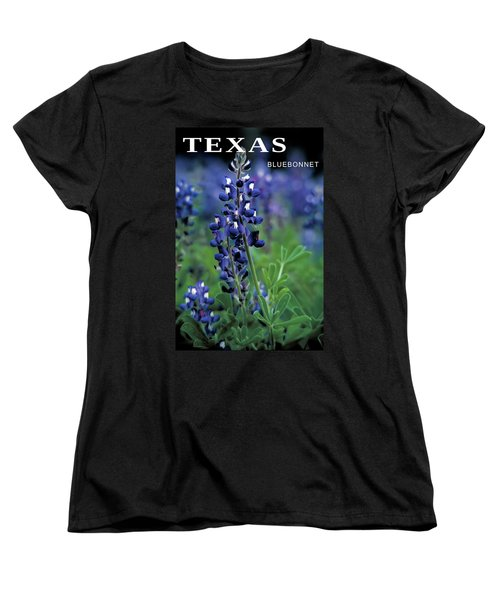 Women's T-Shirt (Standard Cut) featuring the mixed media Texas Bluebonnet State Flower by Daniel Hagerman