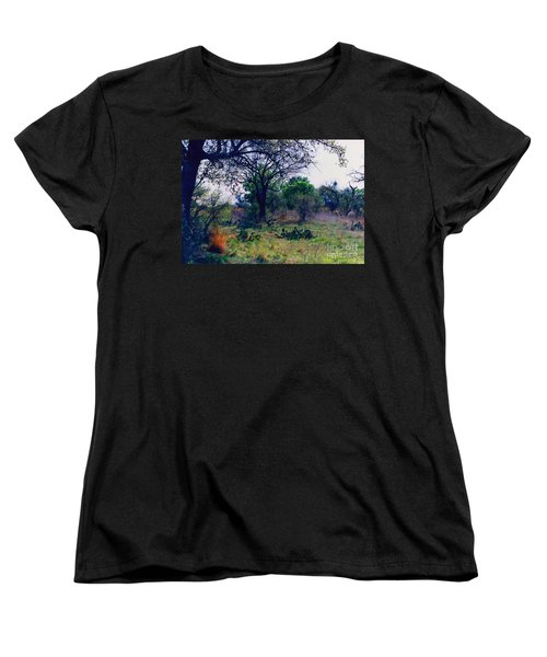 Texas Hill Country Women's T-Shirt (Standard Cut) by Fred Jinkins